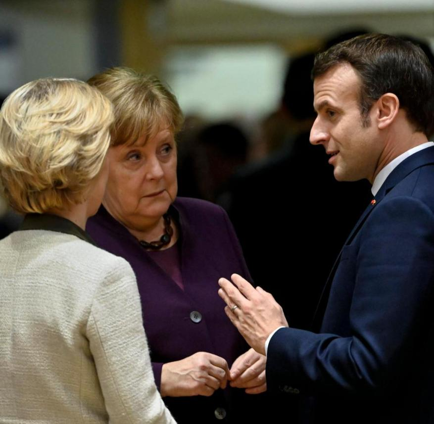 There is a need for speech: von der Leyen, Merkel and Macron in Brussels in February