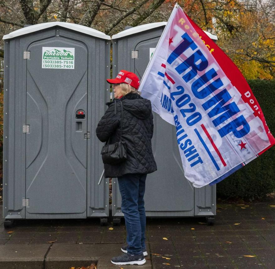 Pro-Trump Activists Demonstrate In Oregon's Capitol, As Trump Campaign Continues Legal Actions Over Election