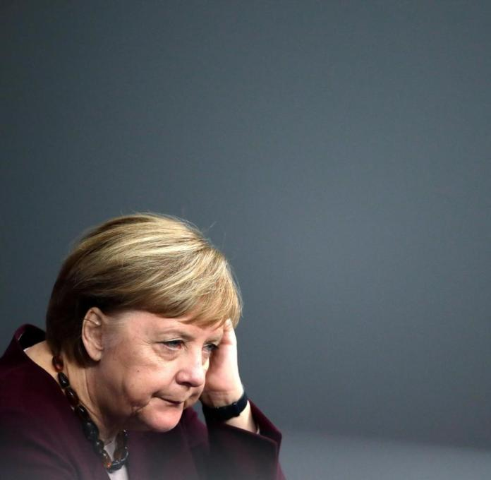 Angela Merkel after her speech on Thursday.  She knows about the weak point of her corona strategy