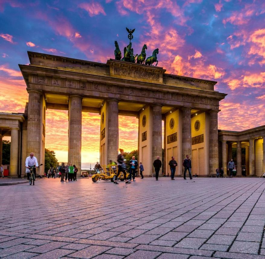The Brandenburg Gate in Berlin is one of the sights that the author believes should be seen