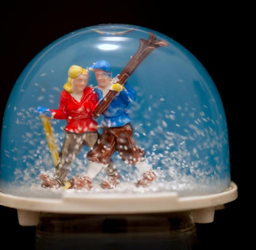 Souvenir: The flakes go well with skiers - but there are also snow globes from places where it has never snowed