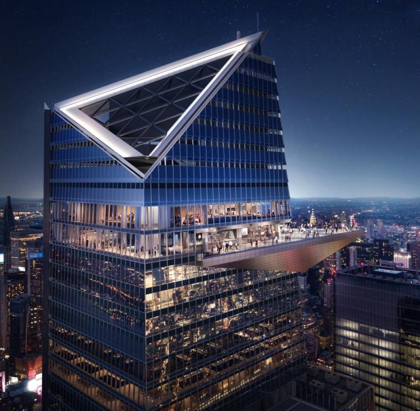 New York: The pointed observation platform rises like a beak