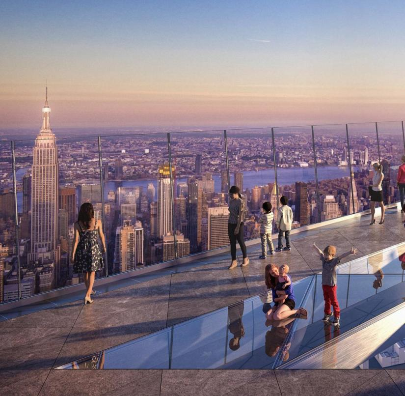 New York: The computer-generated image shows the new viewing platform
