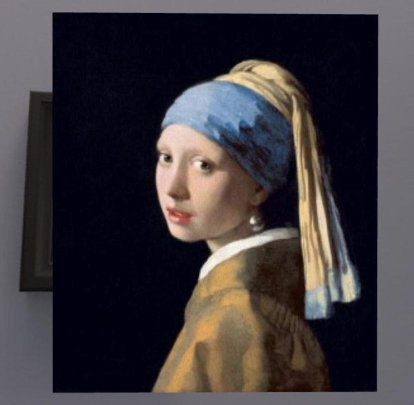 Virtual zoom in Johannes Vermeer's most famous painting: