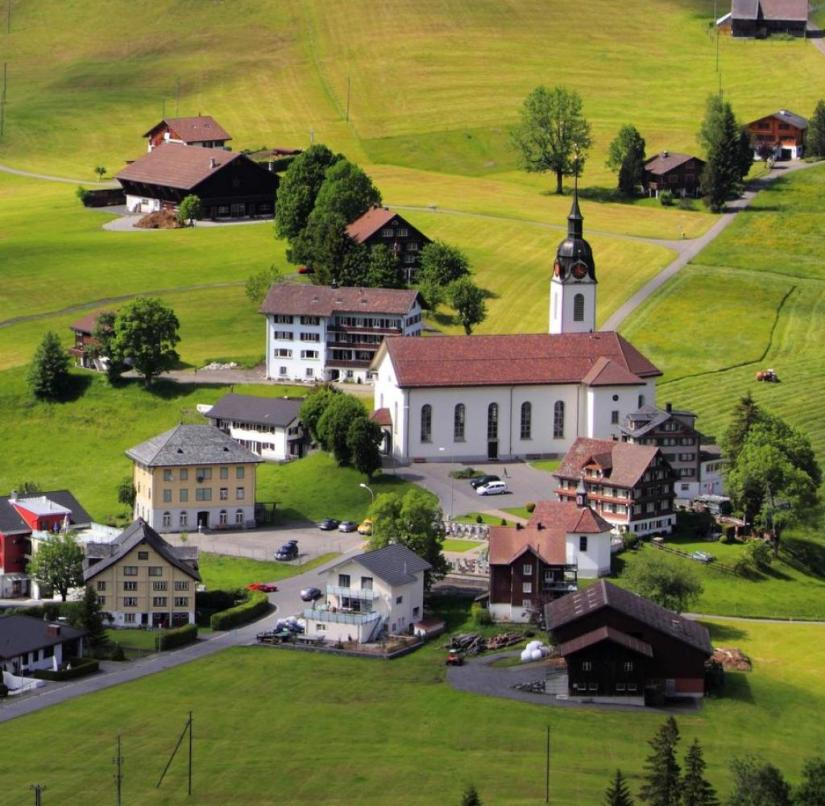 The Swiss canton of Schwyz is characterized by an idyllic mountain landscape