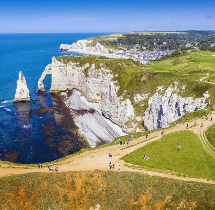 The Alabaster Coast in Normandy, France
