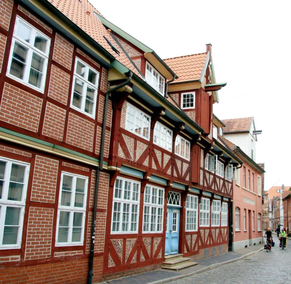 Lauenburg: The half-timbered houses along the Elbe were built between the 16th and 19th centuries