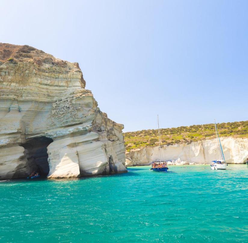 Kleftiko beach on the Cyclades island of Milos in Greece