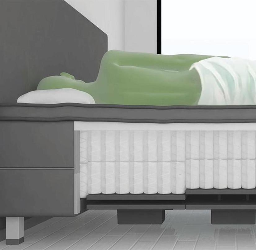 The Swedish manufacturer YouBed has developed a bed whose degree of firmness can be individually adjusted
