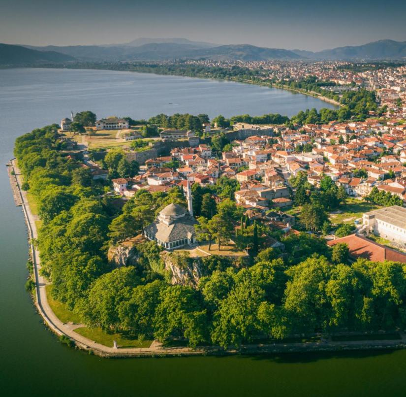 Greece: Ioannina on Lake Pamvotida is the capital of the Epirus province