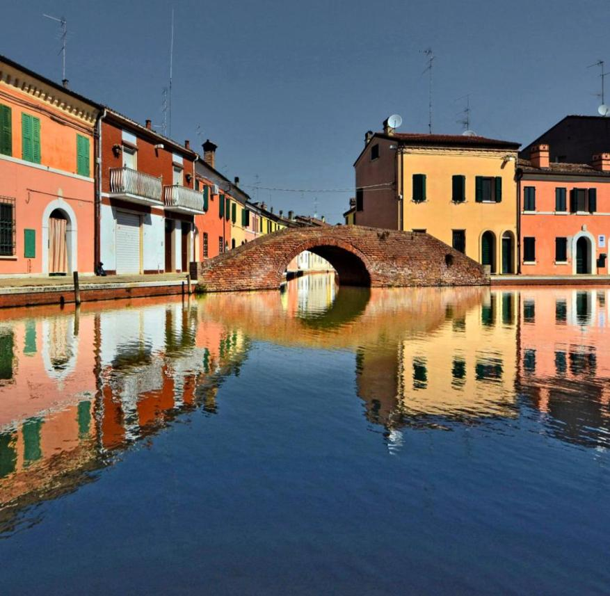 Italy: Comacchio, a town of 22,000 inhabitants, is located south of the Po Delta in the Emilia-Romagna region
