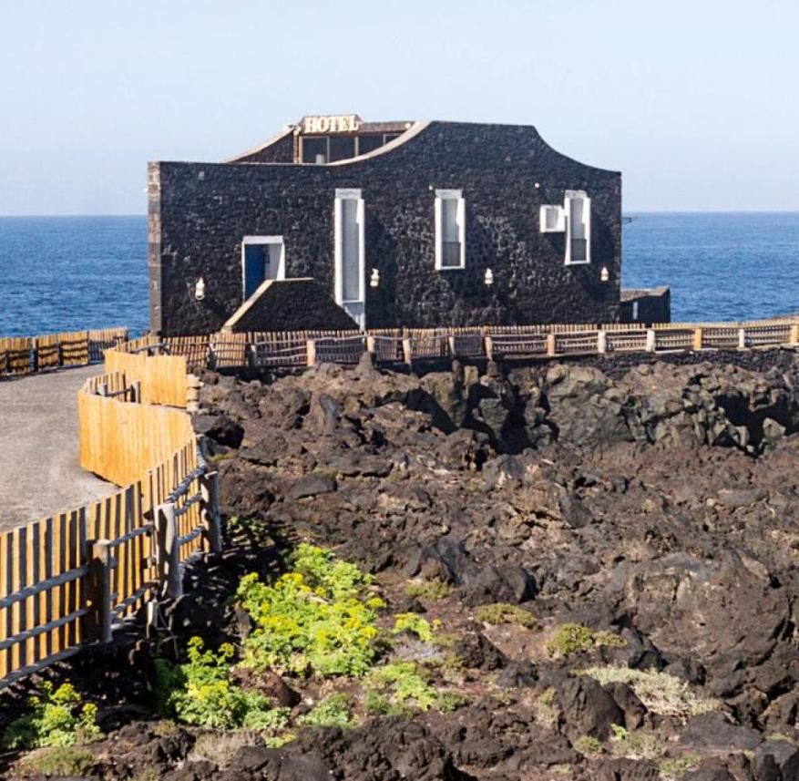 "El Hierro (Canary Islands, Spain): The restaurant of the small hotel ""Puntagrande"" is open to everyone who wants to enjoy typical island food"
