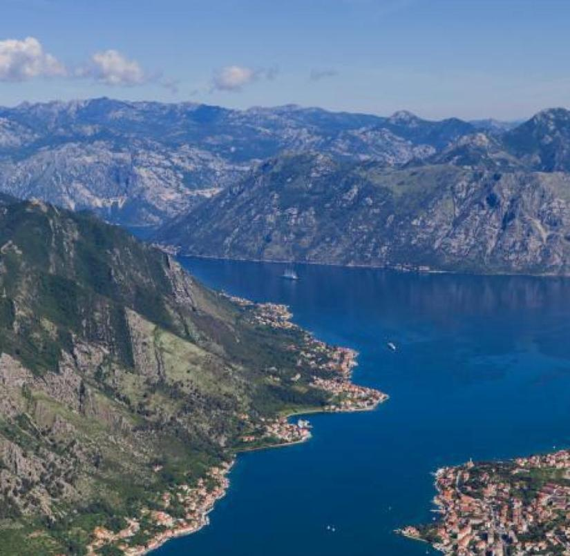 The rugged Bay of Kotor in Montenegro is reminiscent of a Norwegian fjord