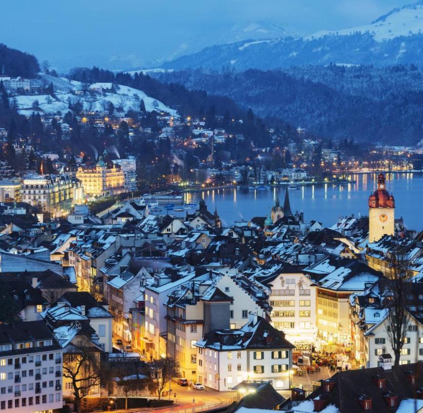 Switzerland: Lucerne on Lake Lucerne