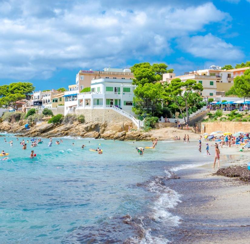 Mallorca: the beach of Sant Elm (Balearic Islands, Spain)