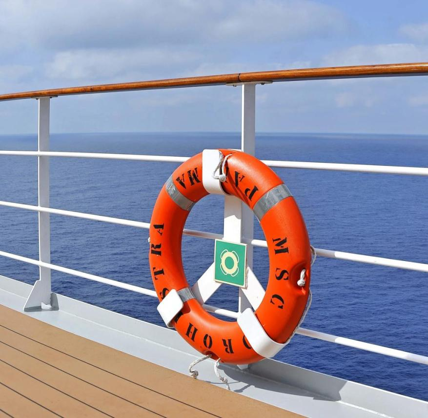 Of course, lifebuoys belong on a cruise ship - but many other measures are necessary to ensure passenger safety