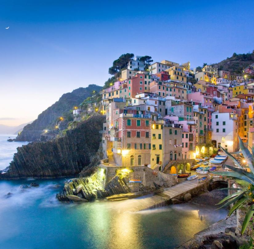 Cinque Terre on the Italian Riviera: The villages on the coast are a UNESCO World Heritage Site