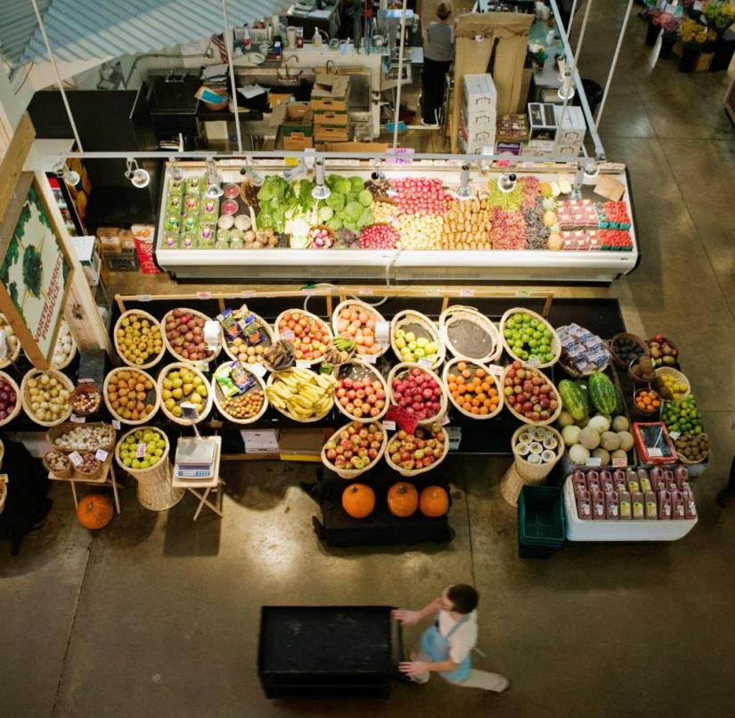 Ohio (USA): Merchants have been selling their goods on the North Market in Columbus since 1876