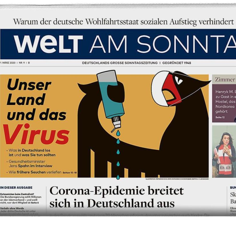 WELT AM SONNTAG from March 1st, 2020