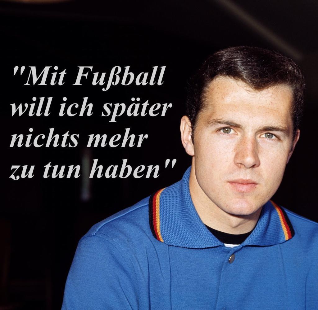 Franz Beckenbauer In Jungen Jahren Uber Zeit Nach Seiner Aktiven Karriere