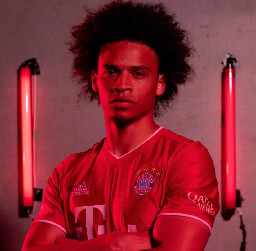 Leroy Sané in the Bayern jersey