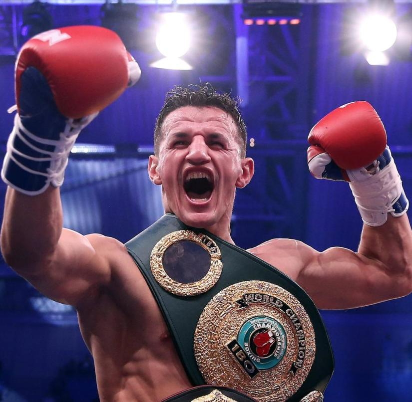 Boxing: World Championship fight Bösel - Krasniqi
