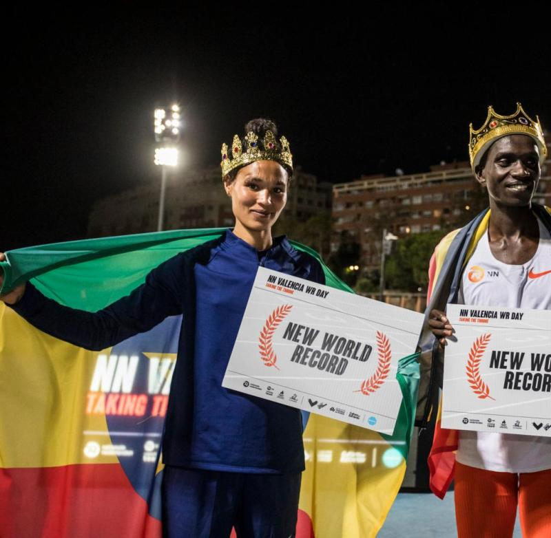 The two endurance aces Letesenbet Gidey from Ethiopia and Joshua Cheptegei from Uganda both ran world records on October 7th in Valencia