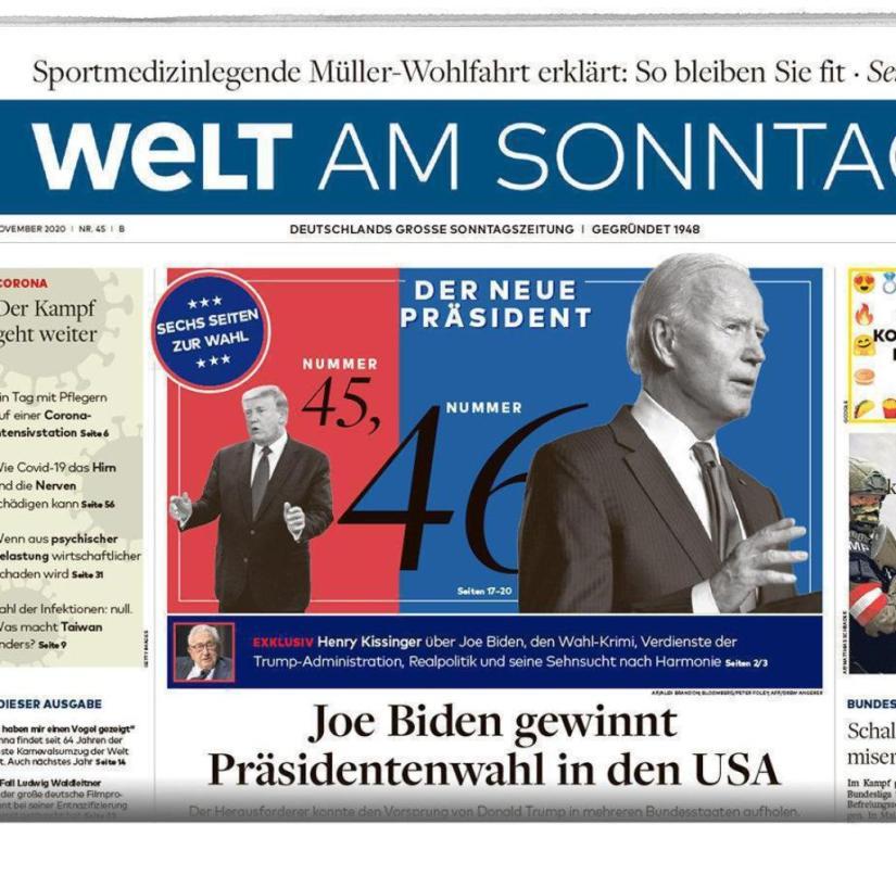Welt am Sonntag from November 8, 2020