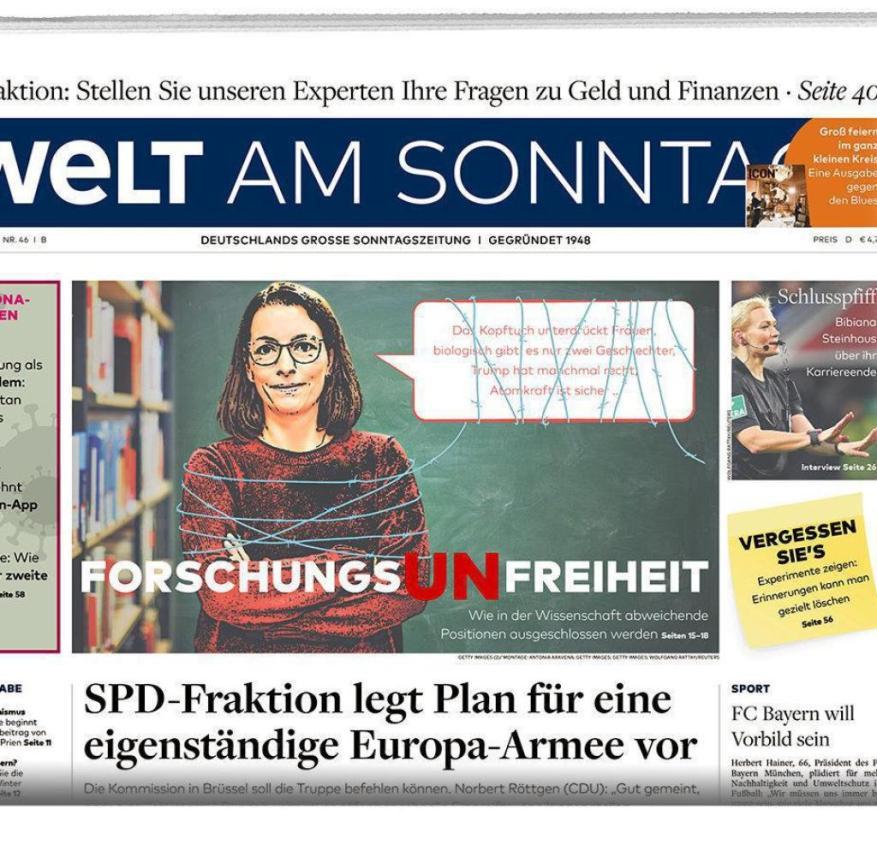 Welt am Sonntag from November 15, 2020