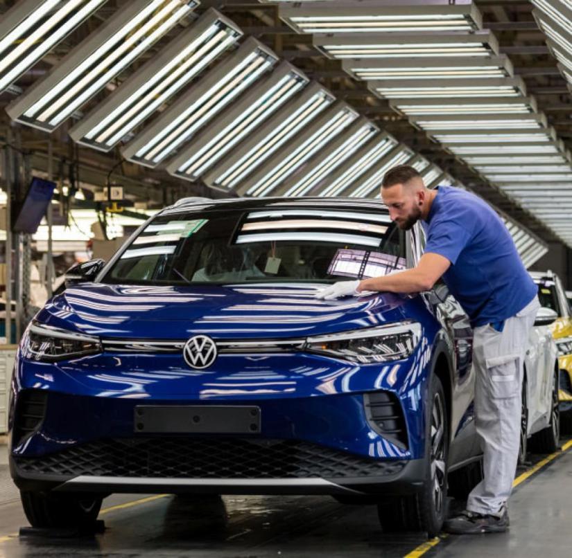 In VW-Werk in Zwickau werden inzwischen ausschließlich E-Autos hergestellt