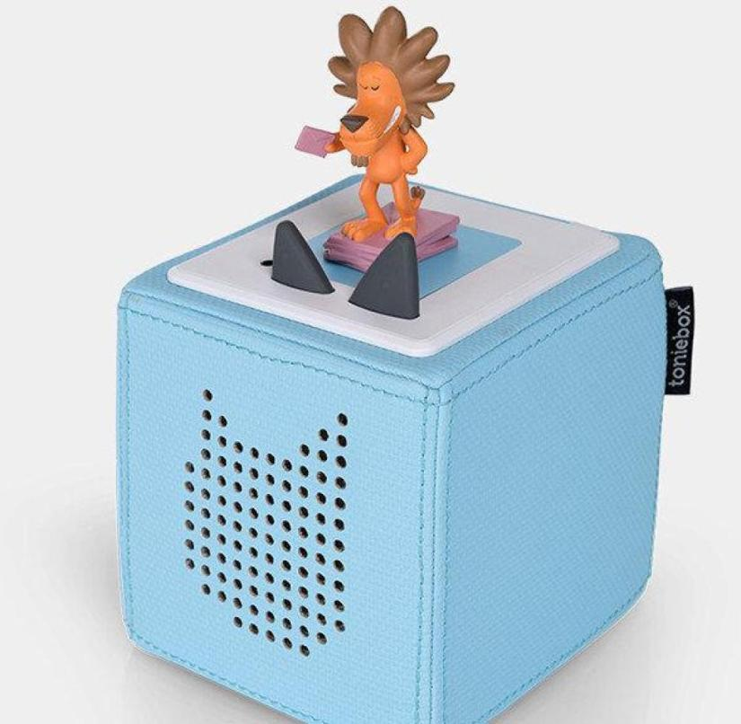 The starter set includes the Toniebox, a charger and a Tonie figure