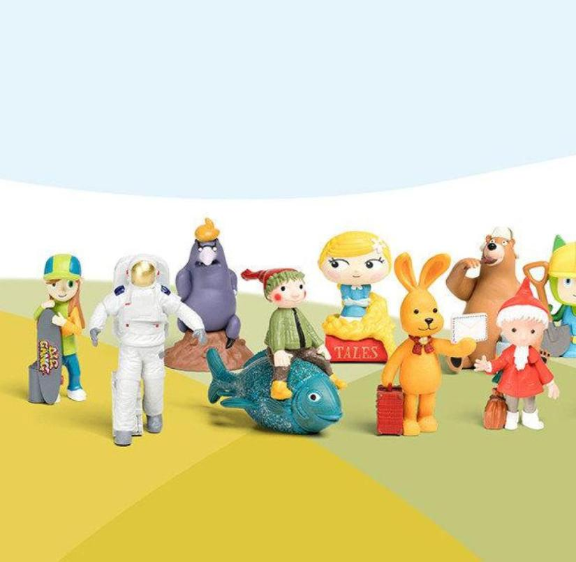The selection of Tonie characters is growing steadily and, in addition to radio plays, children's songs, for example, are also available
