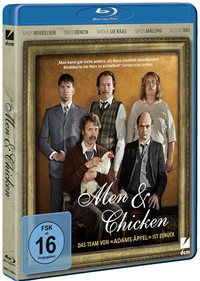 Blu-ray Cover - Men & Chicken, Rechte bei DCM