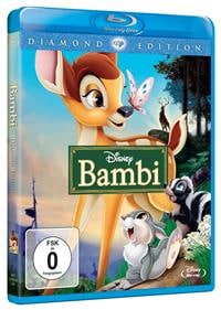 Blu-ray Cover - Bambi, Rechte bei Disney