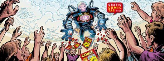 Werbeplakat - Gratis Comic Tag 2016, Rechte bei GCT / Verlag Schreiber&Leser