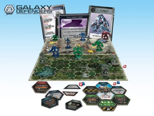 Eine von zahlreichen Maps - Galaxy Defenders, Rechte bei Heidelberger Spieleverlag / Ares Games