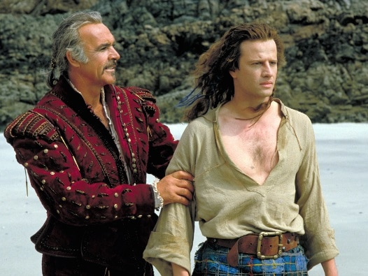 Sean Connery als Juan Sánchez Villa-Lobos Ramírez und Christopher Lambert als Connor MacLeod - Highlander - 30th Anniversary Edition, Rechte bei Studio Canal