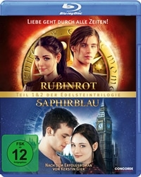 Blu-ray Cover - Rubinrot/Saphirblau - Die Doppeledition, Rechte bei Concorde Home Entertainment