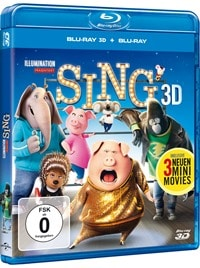 Blu-ray Cover - Sing, Rechte bei Universal Pictures