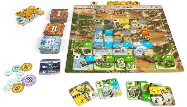 Neom - Erbaue die Stadt der Zukunft - Spielaufbau
