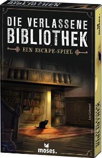 Die verlassene Bibliothek - Ein Escape Spiel - Cover, Rechte beim Moses Verlag