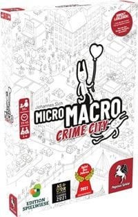 Micro Macro - Crime City - Cover, Rechte bei Pegasus Spiele