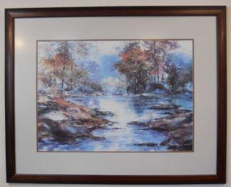 Art Print 1 - Fall Trees & Lake - Used