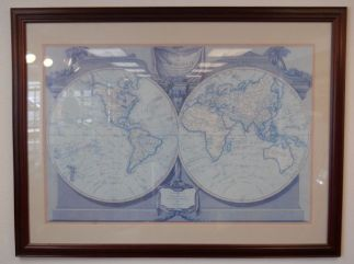 Art Print 11 - A New Map Of The World - Used