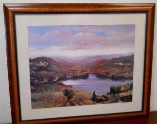 Art Print 14 - Lake Houses, Hillside - Used