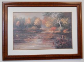 Art Print 15 - Fall Trees / Water - Artist Diane Haist - Used