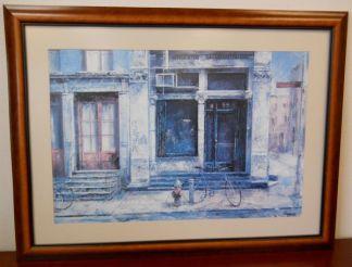 Art Print 25 - Bikes On Street Corner - Used