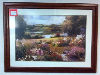 Art Print 26 - Flower Garden by River - Used
