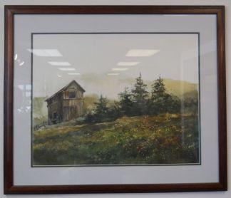 Art Print 2 - Barn & Trees - Used