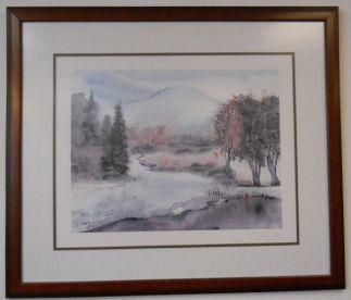 Art Print 42 - Lake, Trees Winter - Used